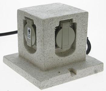 gartenleuchten zubeh r aussensteckdosen. Black Bedroom Furniture Sets. Home Design Ideas